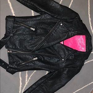 SuperDry Vegan Leather Biker Jacket